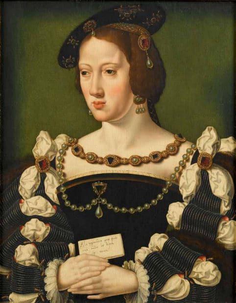 Portrait d'Eléonore d'Autriche (1498-1558) D'après Josse Van Cleve Vers 1530 Musée Condé