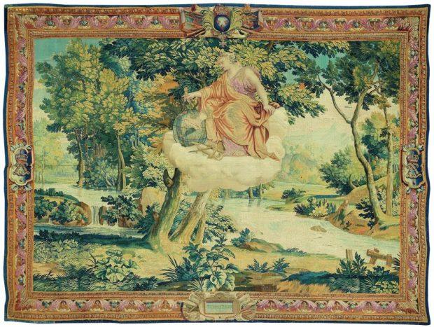 Manufacture des Gobelins, Atelier de Jean De La Croix, Terpsichore, tapisserie de basse lisse, laine, soie et or, Paris, Mobilier national © Philippe Sébert.