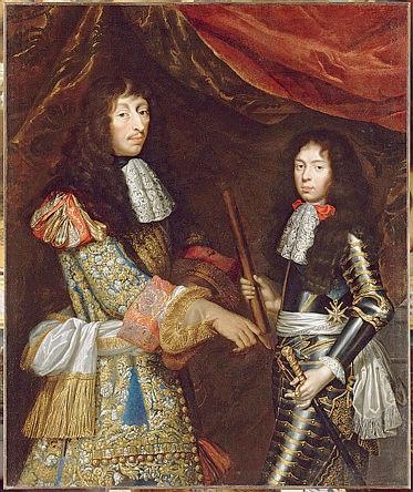 Le Grand Condé et son fils, huile sur toile de 1666 attribuée à Juste d'Egmont et à Pierre Mignard / Gérard Blot/R.M.N-Grand Palais