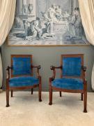 Paire de fauteuils de Jean Baptiste Bernard Demay.