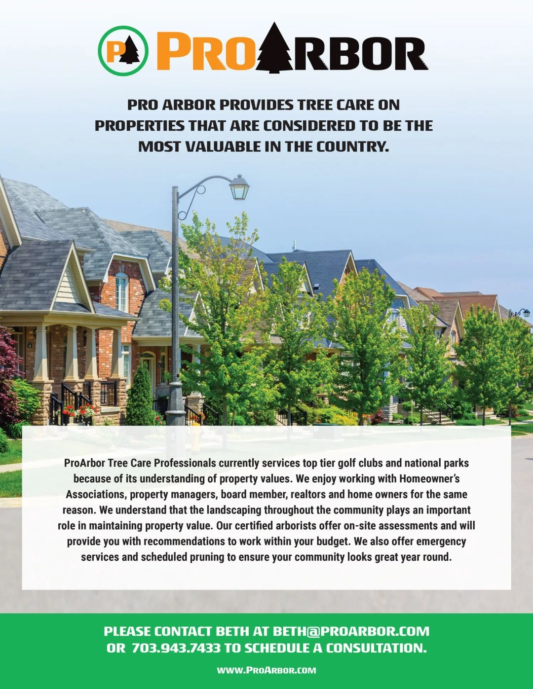 ProArbor HOA RGB - Community Associations/Property Managers/Realtors