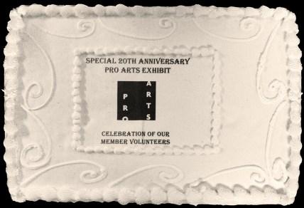 Pro Arts 20th Anniversary Cake