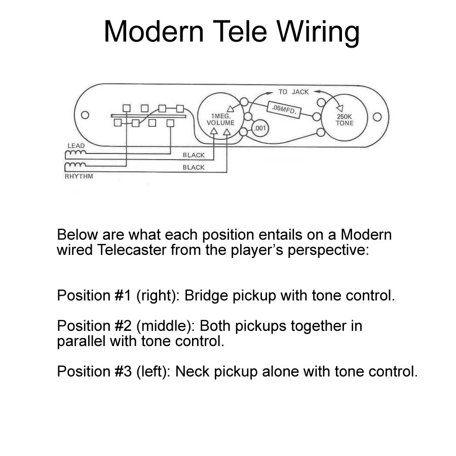 medium resolution of modern telecaster wiring