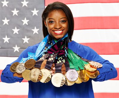 Simone Biles with Medals