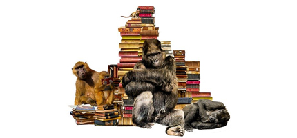 apes and books