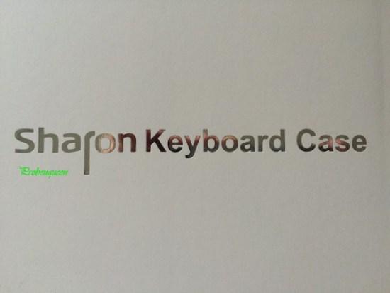 Sharon Tablet Hülle für Samsung mit Tastatur Schriftzug Probenqueen