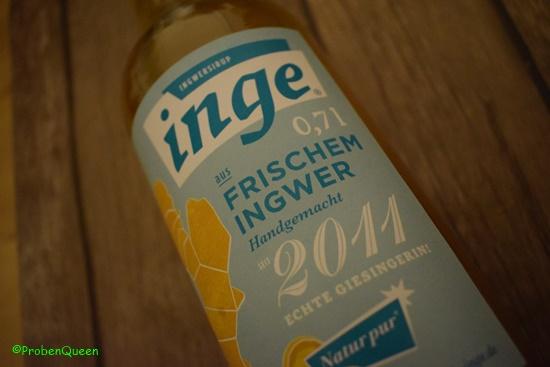 Inge wohnt bei mir - Flaschenetikett Probenqueen