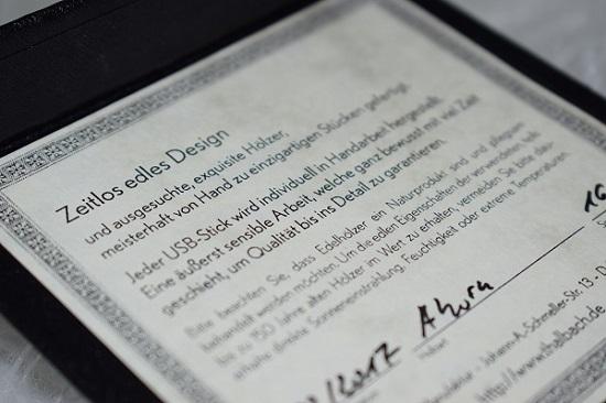Thalbach Design Manufaktur Zertifikat Probenqueen