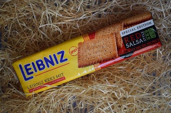 Brandnooz Box Juni 2017 - Packung Leibniz Keks red salsa - Probenqueen