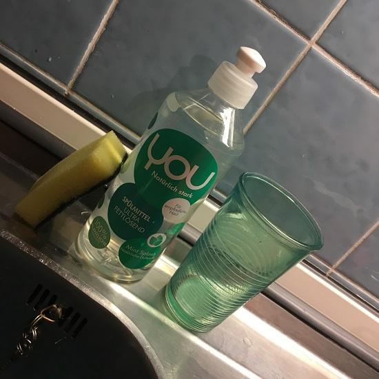 YOU natürlich stark Spülmittel Flasche Mint Splash Probenqueen