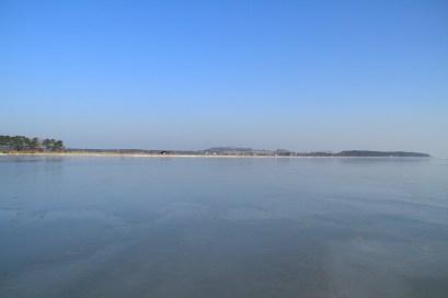 Winter 03 Eis Ostseebad Thiessow Insel Ruegen