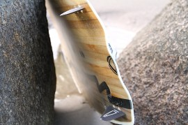 Anton Custom KiteBoard Bullet clear wood Proto 07
