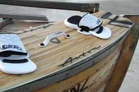 Anton Custom KiteBoard Bullet clear wood Proto 08