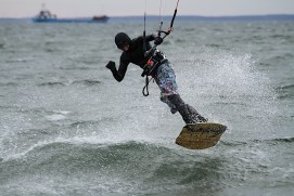 Anton Custom KiteBoard Bullet clear wood Proto 15