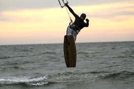 Anton Custom KiteBoard Bullet clear wood Proto 18
