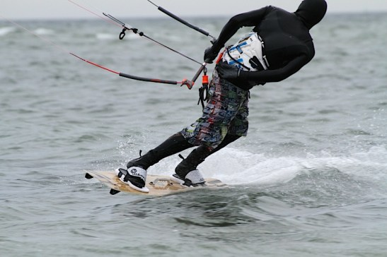 Anton Custom KiteBoard Bullet clear wood Proto 20