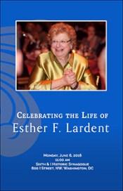 EFL Memorial Program Cover