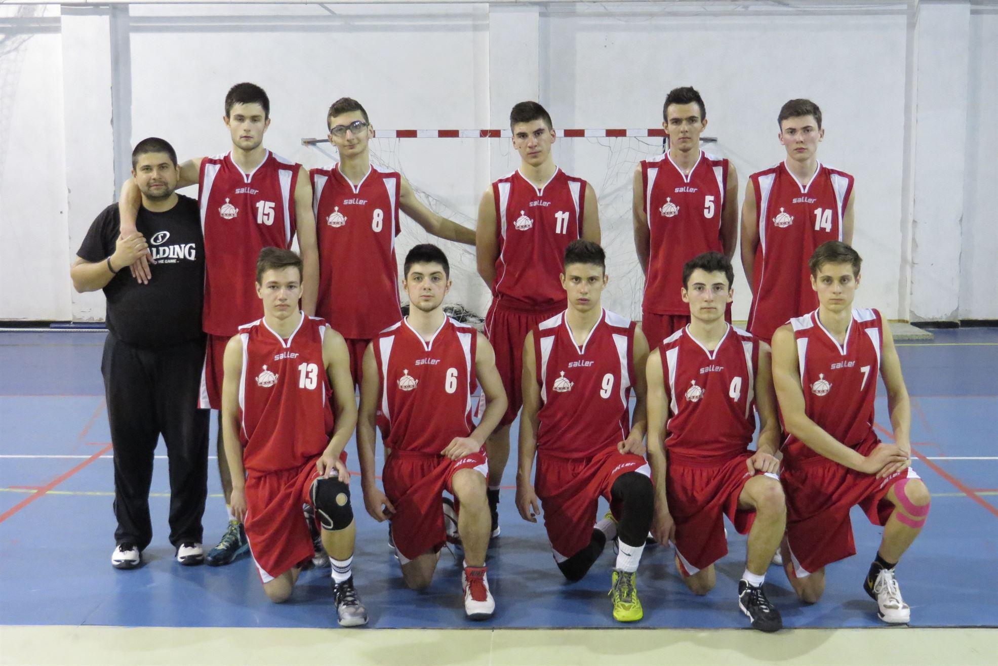 Lotul echipei U18 CS Cuza Sport Braila