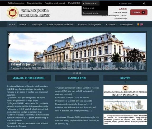 O aplicatie cu date ale avocatilor este disponibila pe site-ul UNBR