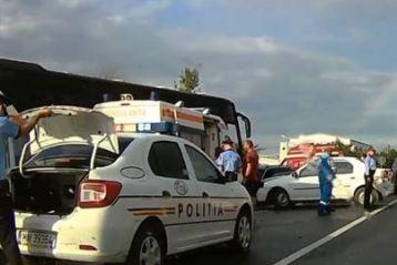 Accident cu 4 victime produs aseară, pe DN 2B