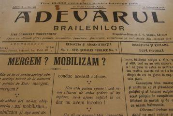 Adevarul brailenilor, 11 oct. 1915