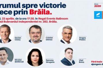 Alianța USR+PLUS își prezintă candidații la europarlamentare la Brăila