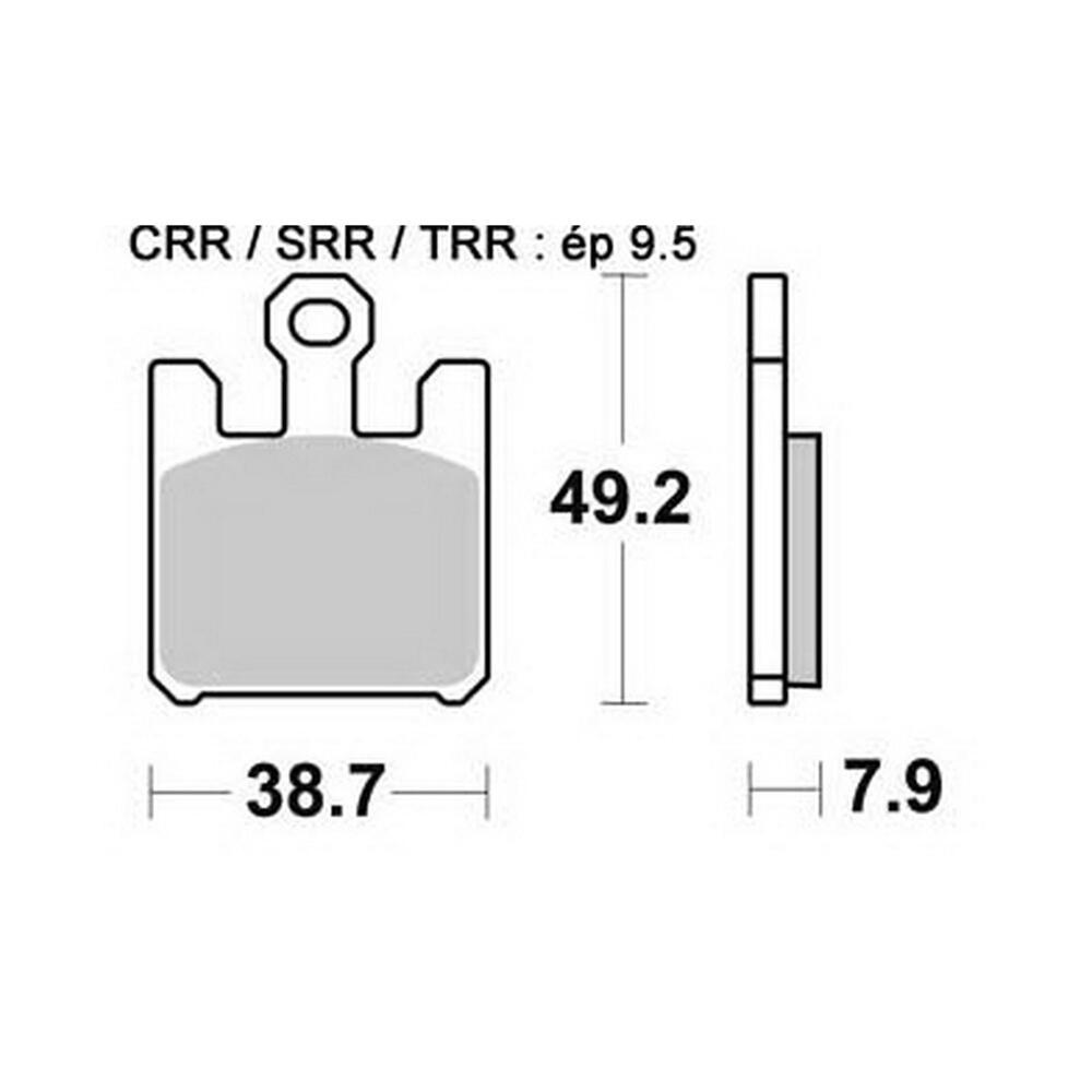 Bremsbeläge von AP Racing Typ LMP388SF vorne für die