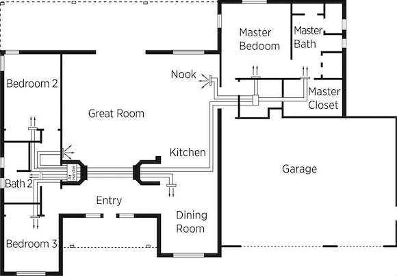 Duct Layout Hvac Duct Design Example
