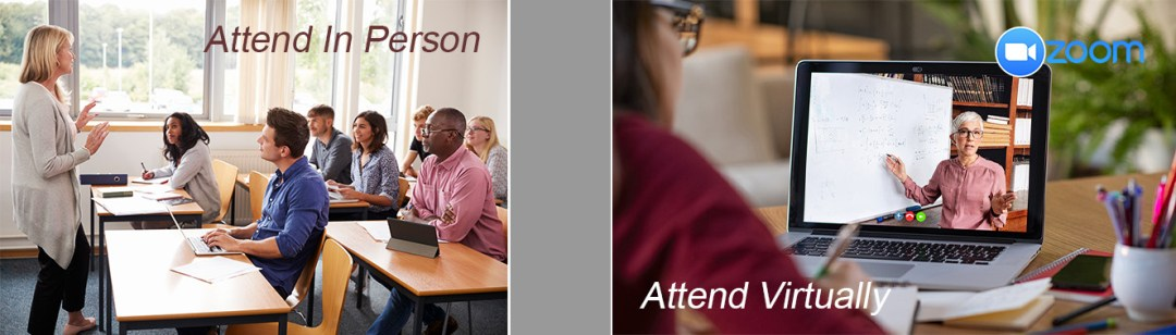 Classroom Course Attend in-person or livestream