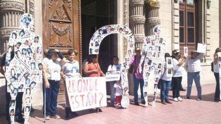 Protestas en Chihuahua por desapariciones.  Foto: Especial