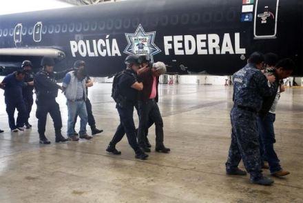 Los cuatro dirigentes magisteriales detenidos en Oaxaca. Foto: Especial