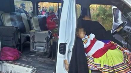 El ataque al transporte público en el municipio de Chilapa de Álvarez, Guerrero.  Foto: Especial