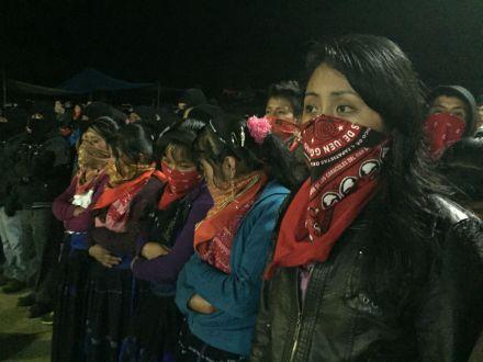 Conmemoración por los 22 años del levantamiento armado del EZLN. Foto: Isaín Mandujano