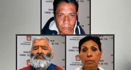 Los presuntos secuestradores detenidos en el Edomex.  Foto: PGJE