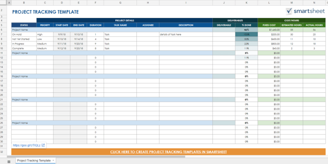 Deliverable timeline template free download champlain for Marketing deliverables template
