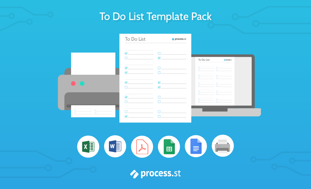 Every To Do List Template You Need (The 21 Best Templates) | Process ...