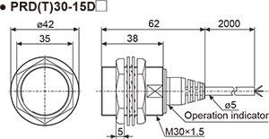 Autonics PRD30-15DN Inductive Proximity Sensor, 12mm Round