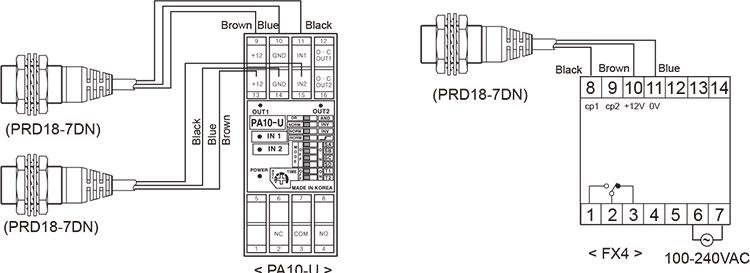Autonics PRDL12-4DP2 Inductive Proximity Sensor, 12mm