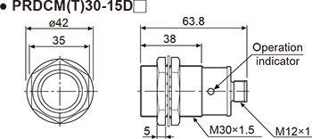 Autonics PRDCM18-14DN Inductive Proximity Sensor, 18mm
