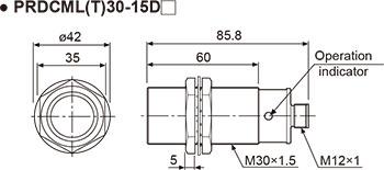 Autonics PRDCM12-4DN2 Inductive Proximity Sensor, 12mm