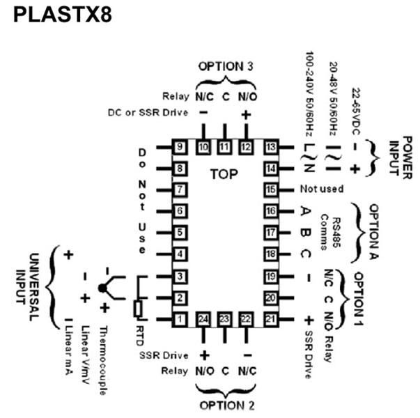 West PlastX6-PlastX8 Temperature Controller and Indicator
