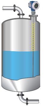 Funktionsprinzip von geführten Radar-Füllstandtransmittern