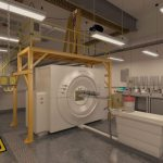 The CT Scanner at the QCCSRC Imaging Laboratory with the Heason Technology Gantry system above.