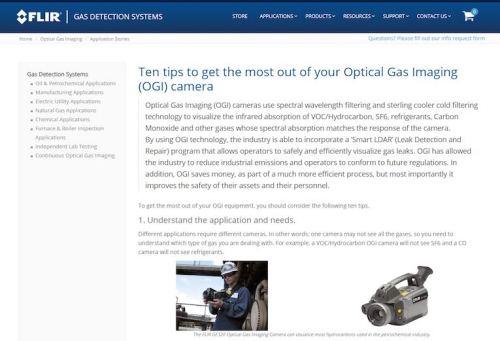optical gas imaging camera guidebook