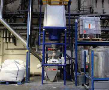 zeefmachine big bag gerecycled glas