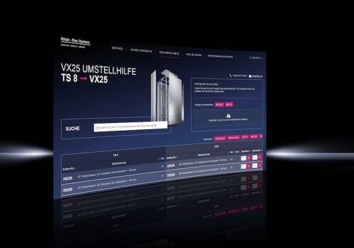 Transición de la caja VX25