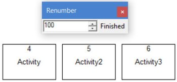 numbering shapes in processmodel