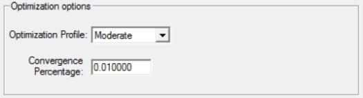 Optimization options in simrunner