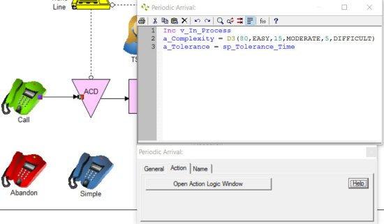 Action Logic Window In ProcessModel