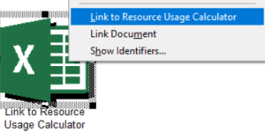 Link to Resource Usage Calculator